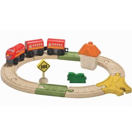 Plantoys Railway Set